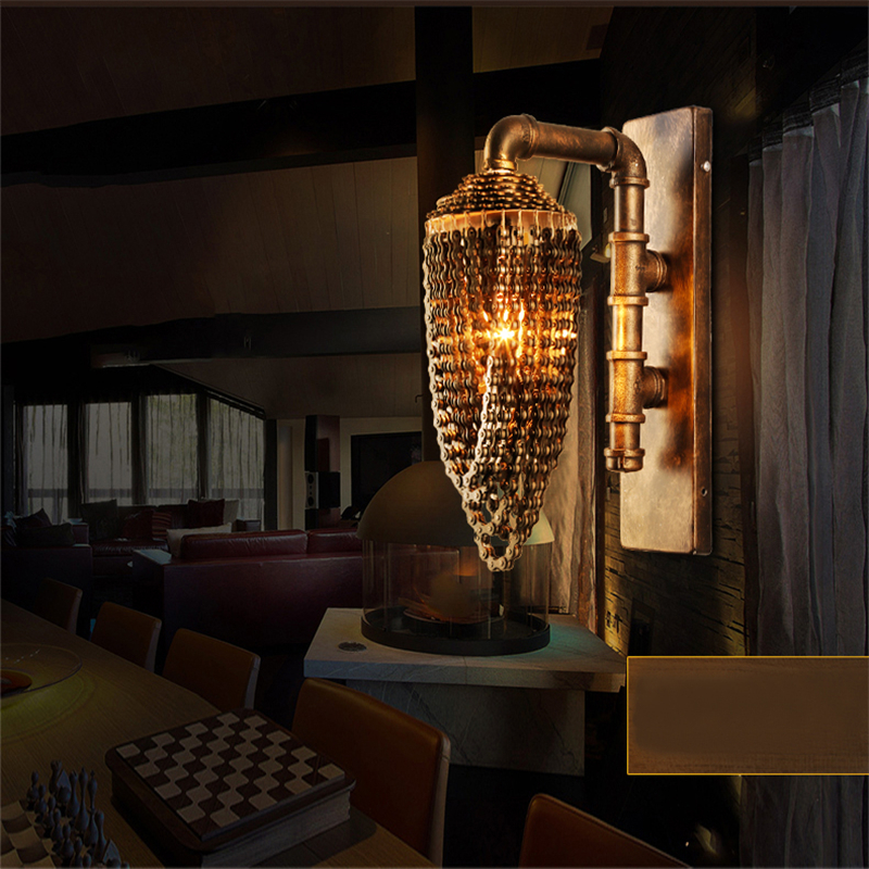 Loft Creative Sconce Hotel Project Bar Cafe Light Vintage Water ...