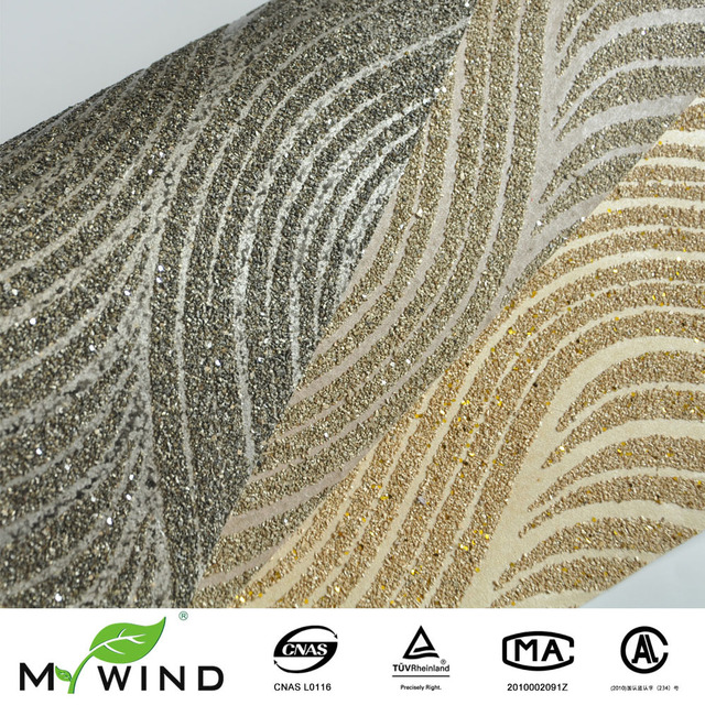 2017 Neue Deisgn Gold Mica Wand Papier Schwarz Silber Glimmer Tapete Für  Wohnzimmer Haus Hotel Dekoration