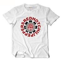 RHCP Red Hot Chili Peppers T Shirt Men Short Sleeve Rock Tee Shirt Man 2017 Summer