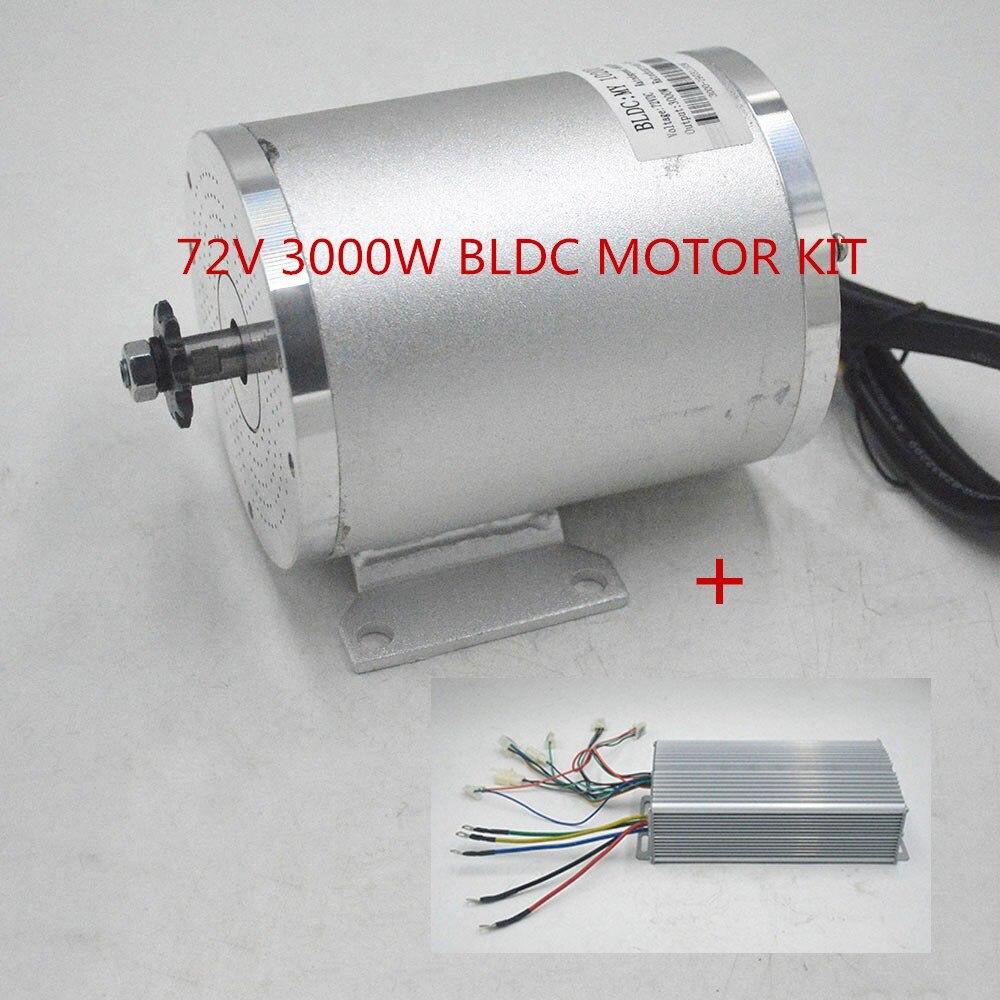 72 V 3000 W ebike Do Motor Elétrico Com Controlador brushless para Scooter Elétrico E Carro-Motor Da Motocicleta Parte