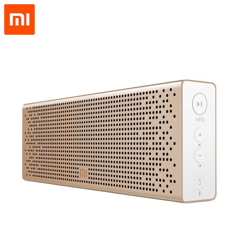 Prix pour D'origine xiaomi mi bluetooth haut-parleur sans fil stéréo mini portable mp3 lecteur audio de poche soutien mains libres tf carte aux-in
