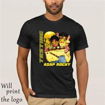 A$AP ROCKY - TESTING 100% black T-shirt size S to 3XL