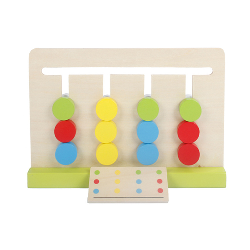 Montessori Education Wooden Toys Four Color Game Color Matching early child kids education learning toys Building
