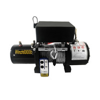 24v Electric winch 3000/4000 /4500lb Handle/wireless Wire rope ATV winches for Beach bugg