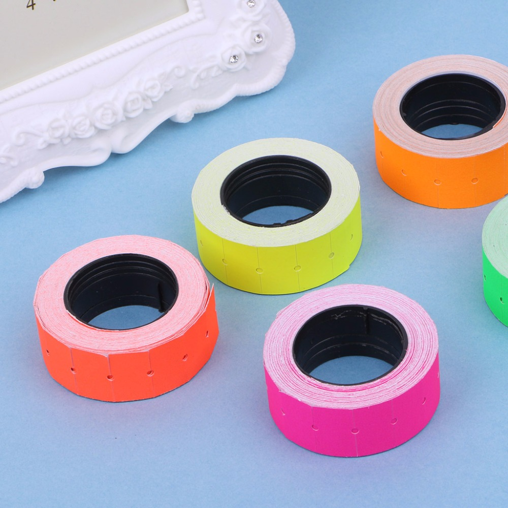 500pcs/roll Colorful Adhesive Price Label Paper Tag Mark Sticker For MX-5500 Tag Gun Labeller Price Stickers 5 Colors C26