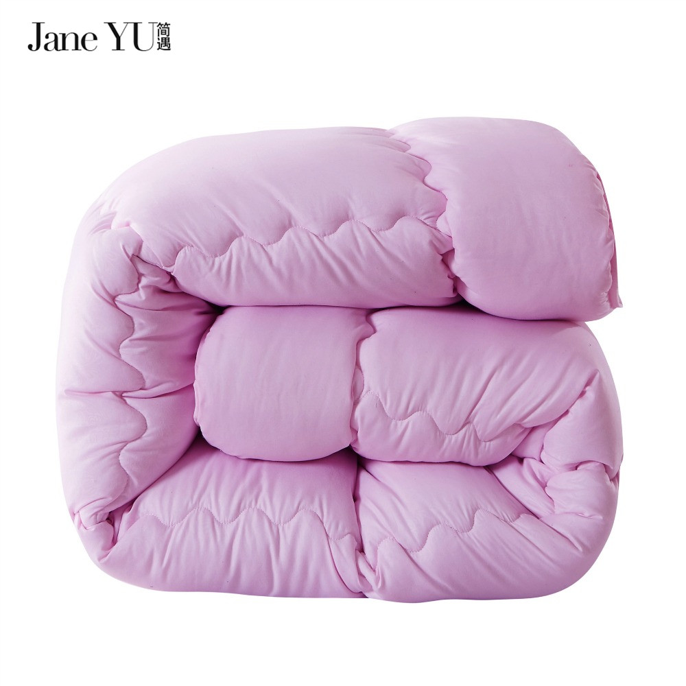 JaneYU Simple brève courtepointe d'hiver couette couette couette couvertures 100% polyester microfibre Double/Full/Reine/Roi taille couette