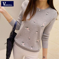 Winter Sweaters 2017 Women Embroidery Ladies Pullover Female Autumn High Elastic Tricot Jumper Fashion Winter Tops Pull Femme