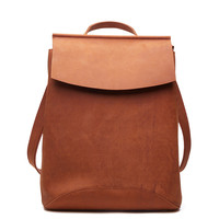Luxury Pure Handmade Crazy Horse Leather Women Backpack Vintage Brown Women S Travel Bags Genuine Leather
