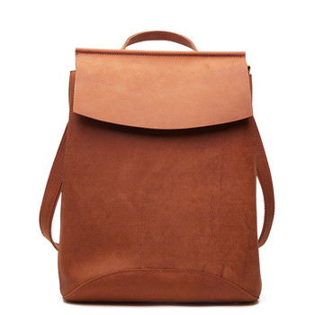 Crazy Horse Leather Women Backpack