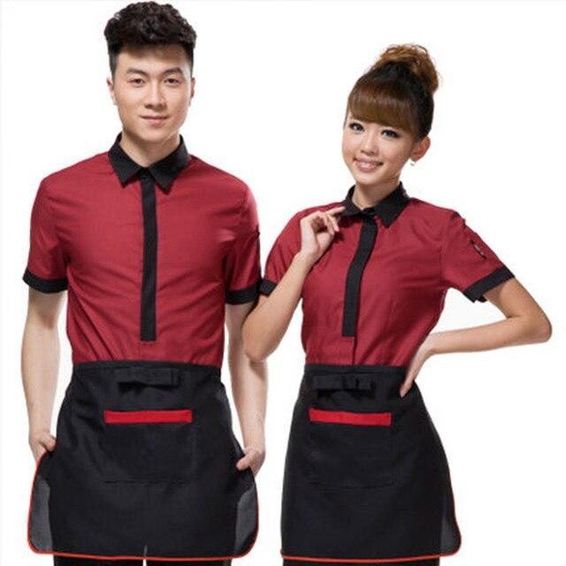 Nouveau style d 39 t uniforme femme et homme de m nage costumes manches courtes chambre - Uniforme femme de chambre ...