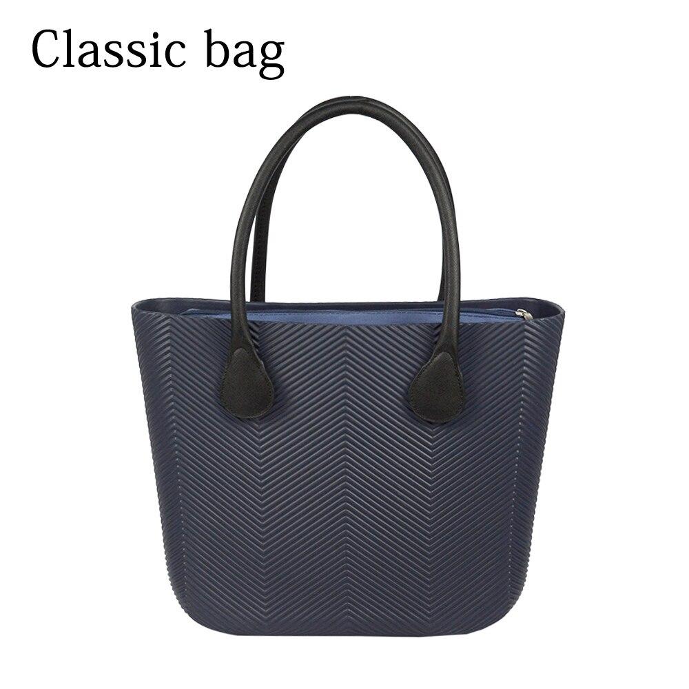 2019 New Obag Style Classic Big EVA Bag with Inner Pocket Colorful Handles Waterproof O bag