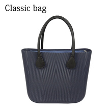 2019 New Obag Style Classic Big EVA Bag with Inner Pocket Colorful Handles Waterproof O bag Women bag DIY handbag 2019 tanqu new o bag moon body with waterproof inner pocket long chain handle for women bag o moon classic obag