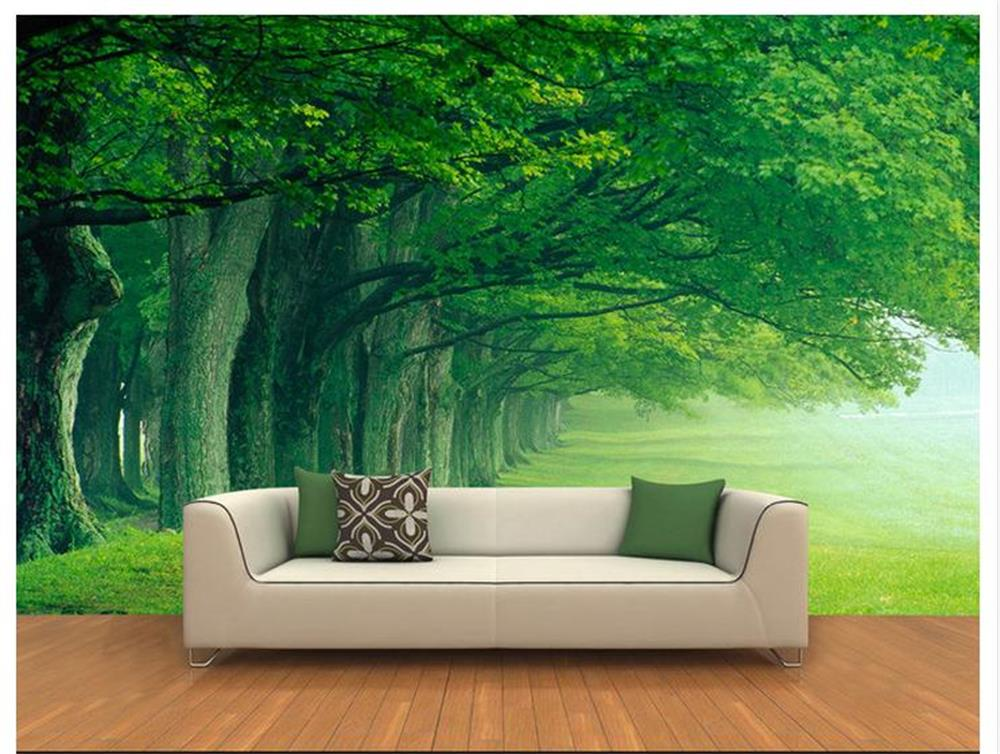 3d room wallpaper custom mural non-woven wall sticker green big trees landscape painting photo murals wallpaper for walls 3d custom photo 3d ceiling murals wall paper blue sky rose flower dove room decor painting 3d wall murals wallpaper for walls 3 d