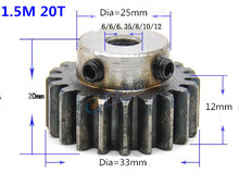 2pcs Spur Gear pinion 1.5M 20T 1.5 mod gear rack 20teeth bore 6-15mm 45teel pinion teeth high frequency quenching 4 mod gear rack 27 teeth spur gear precision machinery industry 45 steel cnc rack and pinion frequency hardening