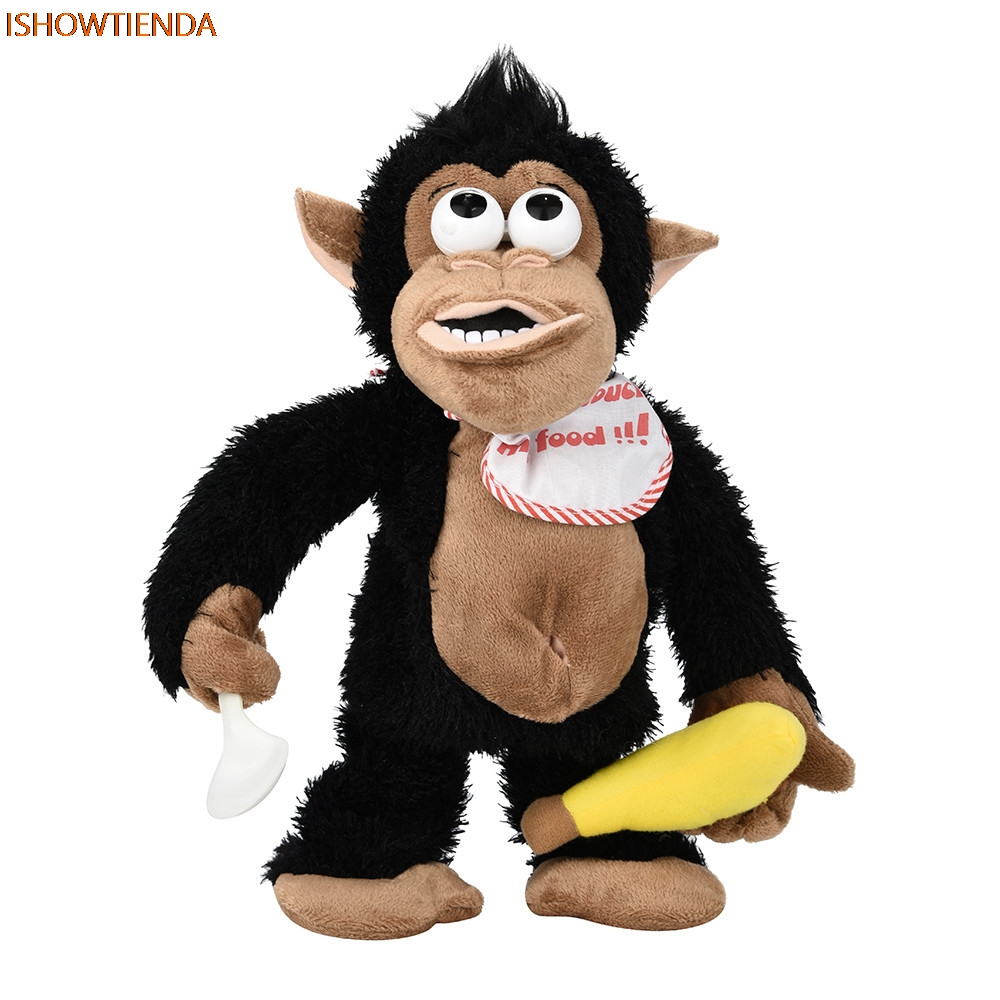Novelty Funny Crying Monkey Electronic Stuffed Toy Tricky Doll For Kids & Adults Motion & Sound Shouts & Screams Drop Shipping