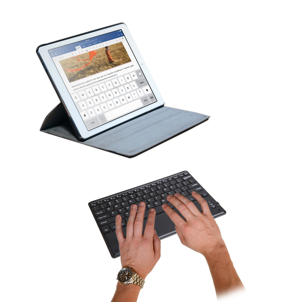 7 inch untra-thin Bluetooth multi function touch-pad keyboard with Built-in Multi-touch Touchpad Bluetooth Keyboard 3