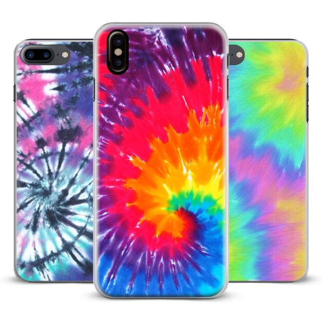 huge selection of 83cb9 cea1a US $2.8 |Aliexpress.com : Buy Tie dye Hippie Art Hipster Coque Phone Case  Cover Shell For Apple iPhone X 8Plus 8 7Plus 7 6sPlus 6s 6Plus 6 5 5S SE 4s  ...