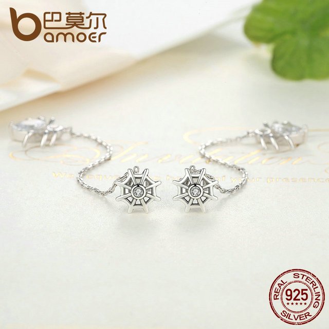 Sterling Silver Ferris Wheel and Spider Earrings
