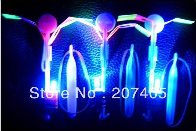 Free shipping 20pcs/lot led light helicopter arrow of  Funny Toy  Party Gift