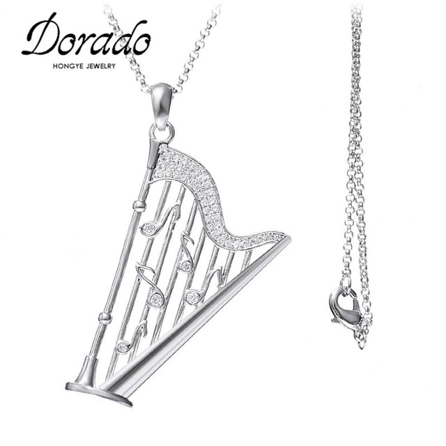 High end jewelry elegant design music note harp pendant necklace high end jewelry elegant design music note harp pendant necklace white gold color jewelry for audiocablefo
