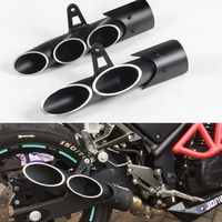 motorcycle exhaust 36 51mm universal modified exhaust for toce exhaust z900 zx6r R6 R1 gsxr1000r double holes exhaust