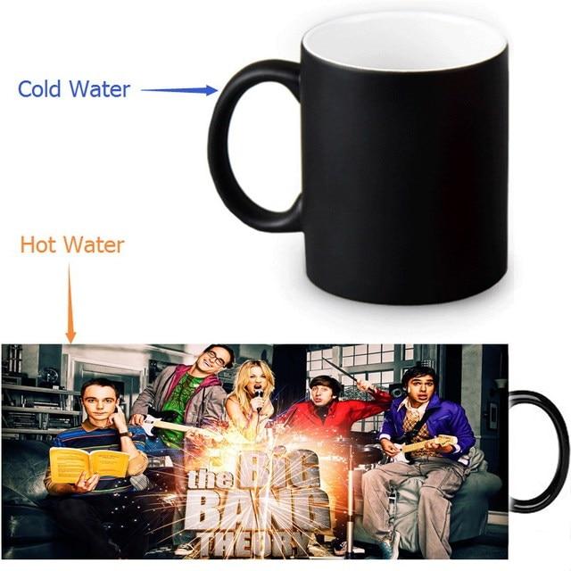 The Bang Theory Coffee Mugs Morph Mug Heat Sensitive Black Colour Change Morphing Tea