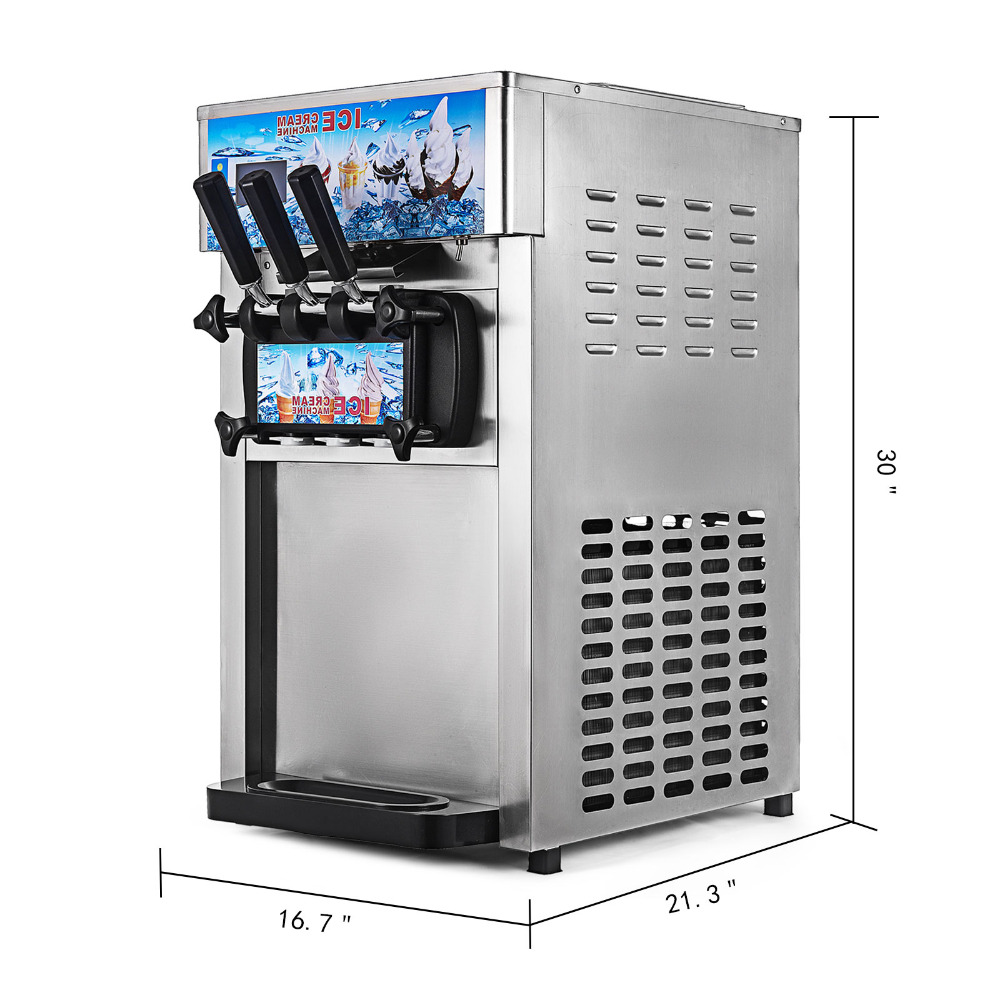 New style commercial stainless steel soft serve ice cream machine/ice cream roll making machine/soft ice cream machine ce fried ice cream machine stainless steel fried ice machine single round pan ice pan machine thai ice cream roll machine