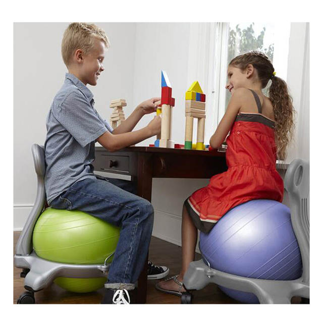 Fitball Balance Ball Chair Folding Table Set Online Shop Yoga With Back Support 55cm Stability Exercise Guide For