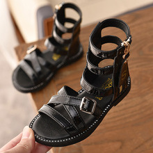 Summer Children Girls Roman High-top Boots Sandals Gladiator shoes Sandal cool boots Fashion Kids Soft Sole open toe Beach shoes girls roman sandals for kids princess shoes summer fashion high heels soft leather children open toe sandal dress wedding party