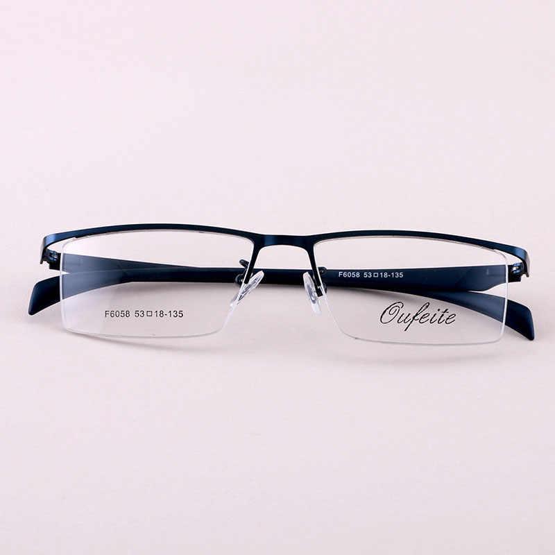 BCLEAR фирменный дизайн из титанового сплава, очки для очков, мужские очки для близорукости, оправы для очков, 2018, мужские Модные полуоправы, большая оптическая оправа