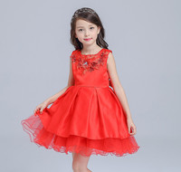 Red Girl Dress with Coat Party Christmas Girl Party Costume For 3 4 6 8 10 12 Year Old 2019 Girls Clothes AKF164112