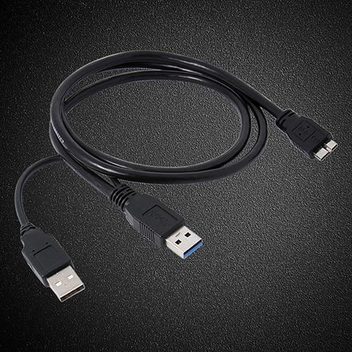 Черный двойной кабель A Micro B USB 3,0 Y для usb концентратора Sumsang Galaxy S5 Note 3