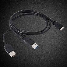 Black Dual A naar Micro B USB 3.0 Y kabel voor Sumsang Galaxy S5 Note 3 USB HUB