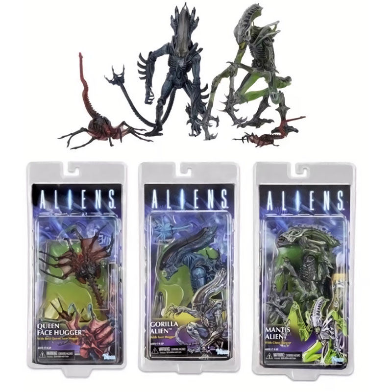 NECA Aliens Series 10 Gorilla Mantis Alien Queen Face Hugger PVC Action Figure Collectible Model Toy neca alien xenomorph pvc action figure collectible model toy 19cm