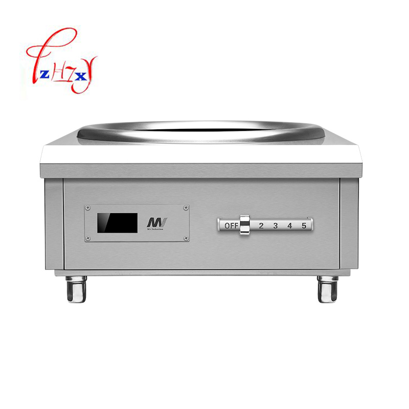 где купить 8KW Concave induction cooker Commercial Electromagnetic stove Industrial electric frying furnace cooking Heat food 1pc дешево