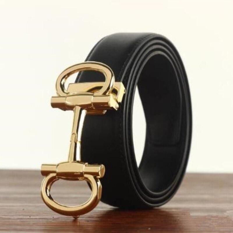 Hot Brand Belts for Women and Men Fashion Designer Real Leather Luxury Buckle Belt Jeans Cowhide Girdle Belt Smooth Buckle Belt