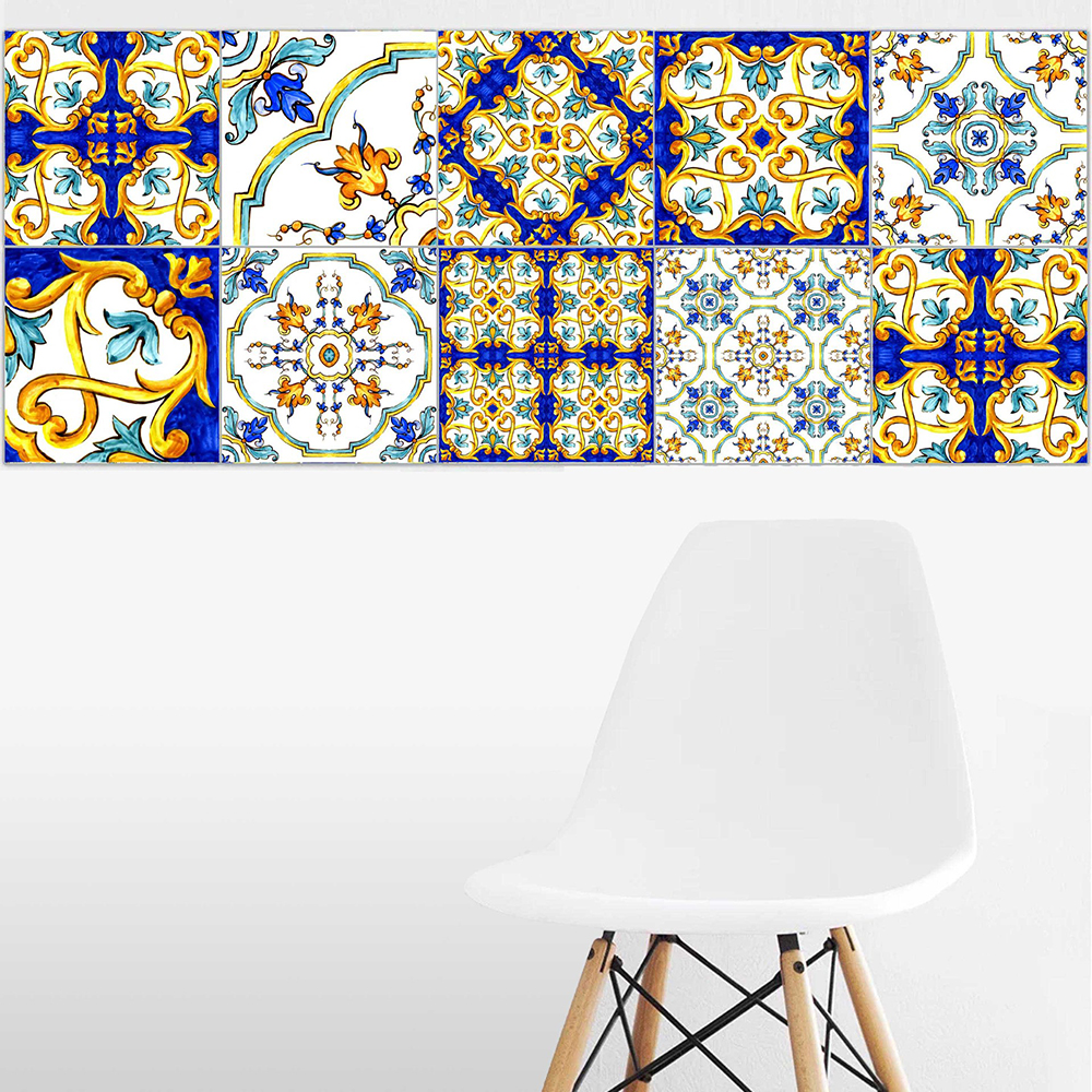 Pattern Europe Tiles Wall Stickers for DecorationSelf- Adhesive Waterproof PVC DT057