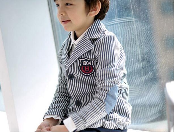 The New Cotton Suits Boy Small Suit Korean Version Of The Striped Suit Children