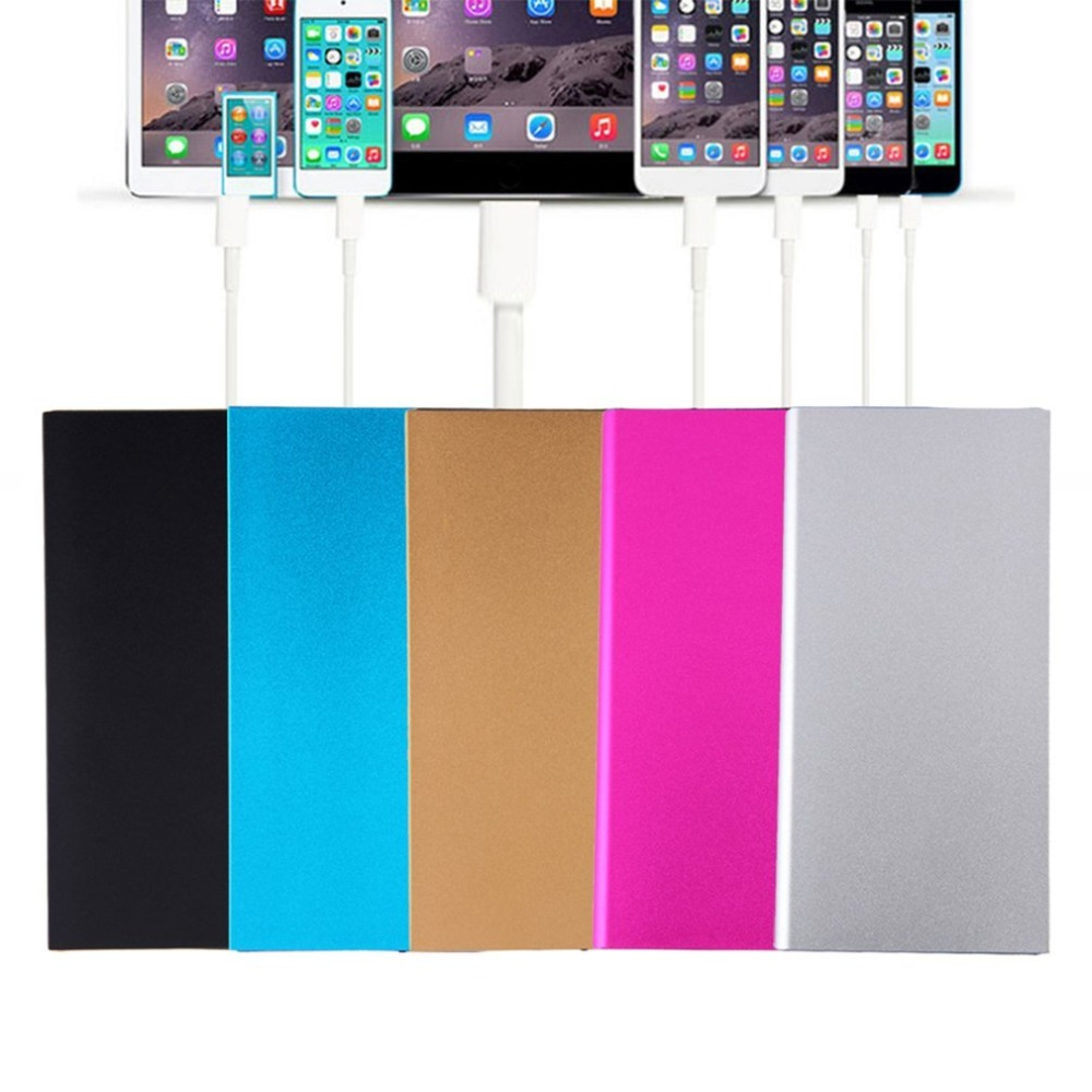 50000mAh Large Capacity Mini Portable Power Bank Lightweight Dual USB Battery Charger Power Backup With LED Light For Phone dual usb output universal thunder power bank portable external battery emergency charger 13000mah yb651 yoobao for electronics