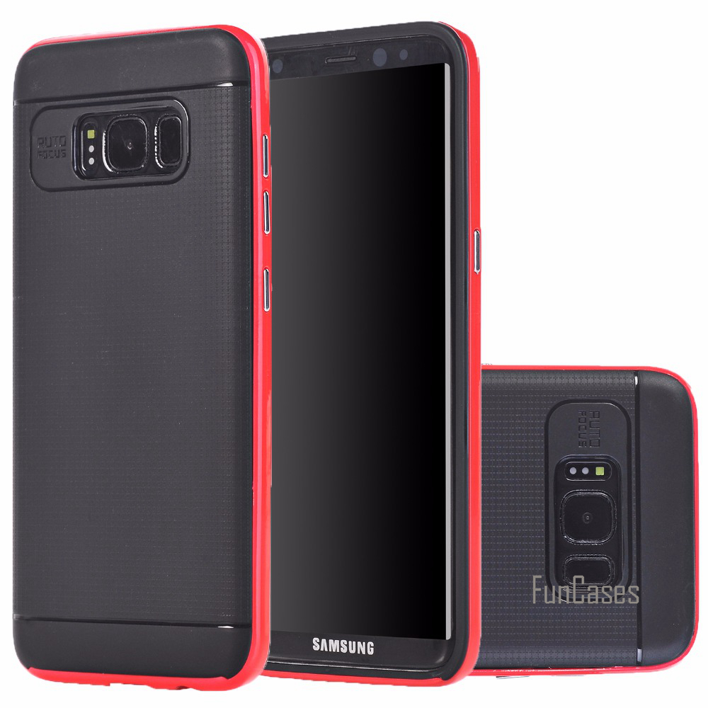 For Samsung Galaxy S8 Plus Case Hybrid TPU+PC 2 in 1 Hard Protective shockproof Slim Fashion Cover Cases For Samsung Galaxy S8