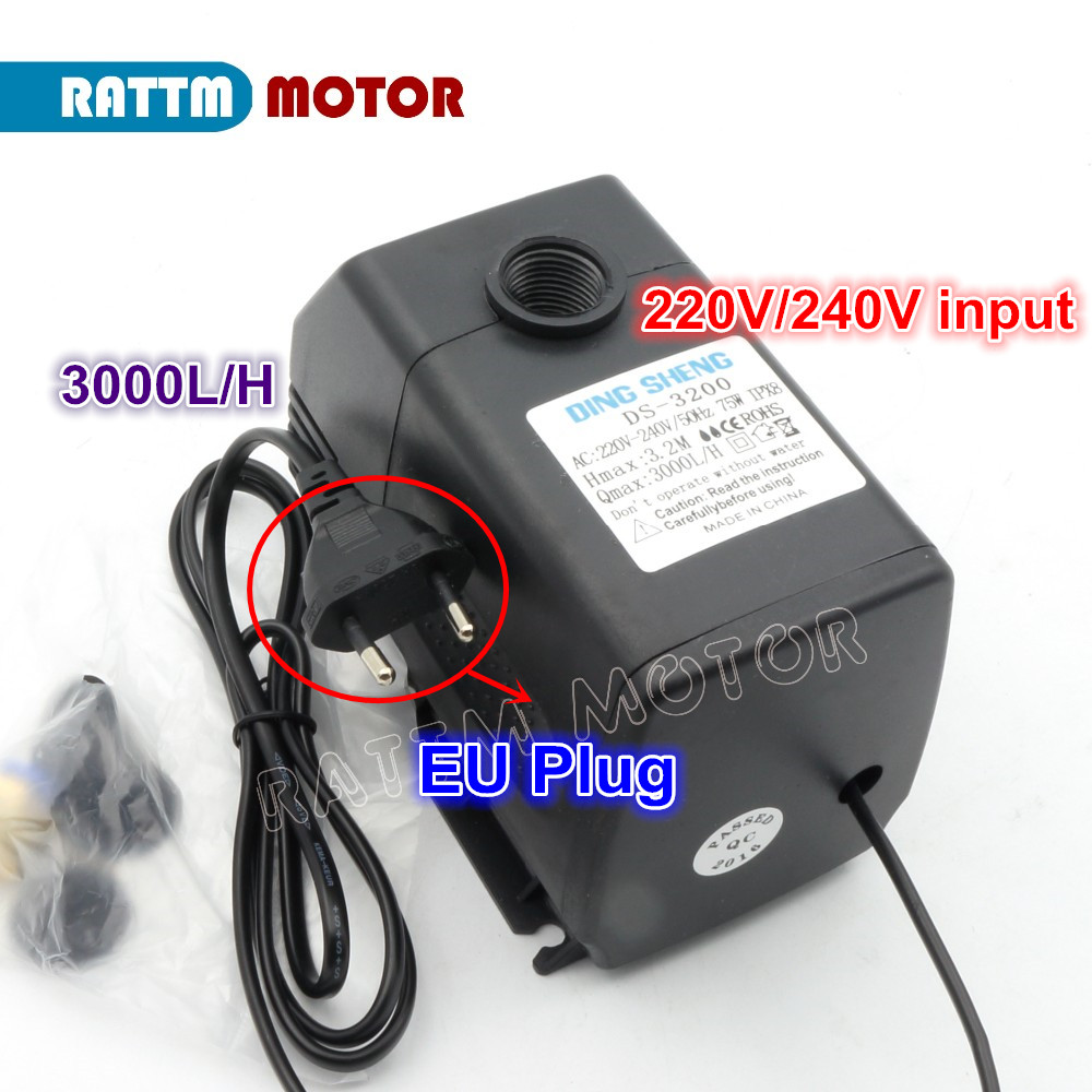 1PCS 75W 3.2m Water Pump Engraving Machine Cooling Tool for CNC Router 2.2kw Spindle Motor and 1.5kw 0.8kw 800W Spindle Motor 220v 1 5kw spindle motor water cooling motor cnc spindle motor machine tool spindle