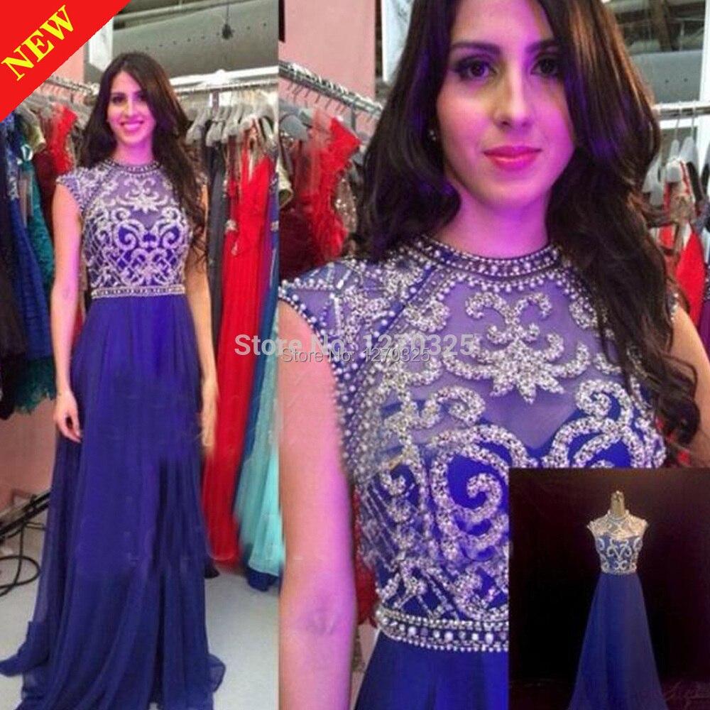 Lujo Vestidos De Dama De Color Azul Royal Embellecimiento - Vestido ...