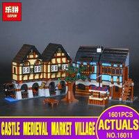 Lepin 16011 1601Pcs Castle Series The Medieval Manor Castle Set Educational Building Blocks Bricks Model Toys