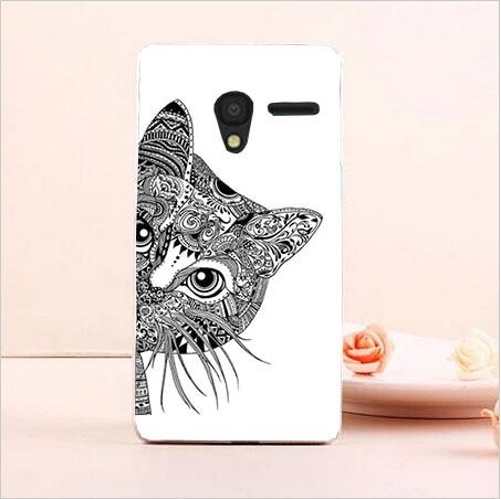 DIY Painted Transparan Hard Cover Kasus Untuk Alcatel One Touch Pixi3 - Aksesori dan suku cadang ponsel - Foto 2