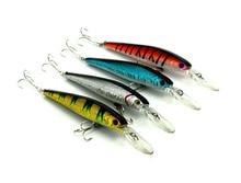 New minnow Fishing Lure deep water 4 pcs plastics lifelike Bait 4 colors 125mm -14g 4# hook (MI053)
