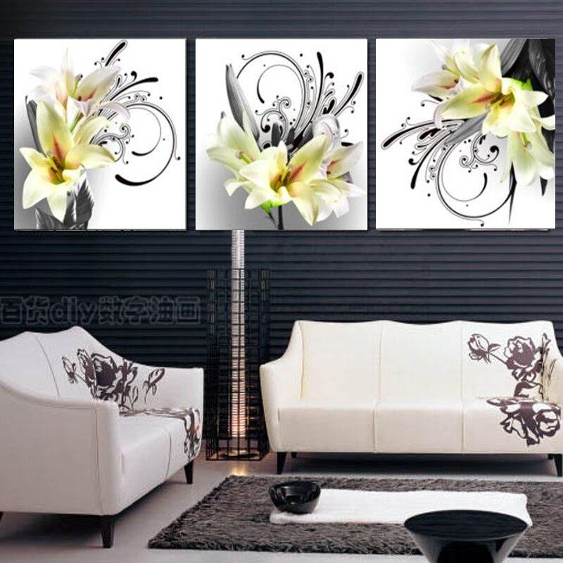ჱ3 panel imágenes sobre lirio abstracto pintura al óleo cuadros ...
