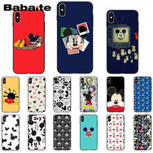 Babaite Mickey Mouse Del Modello Tpu Del Telefono Morbida Cassa Del Telefono Delle Cellule per Il Iphone di Apple 8 7 6 6S Plus X xs Max 5 5S Se Xr 11 11pro 11 Promax(China)