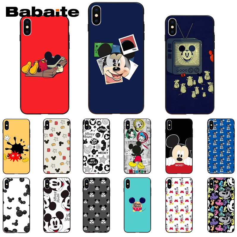 Babaite <font><b>Mickey</b></font> <font><b>Mouse</b></font> Pattern TPU Soft Phone Cell Phone <font><b>Case</b></font> for Apple <font><b>iPhone</b></font> <font><b>8</b></font> 7 6 6S Plus X XS MAX 5 5S SE XR 11 11pro 11promax image