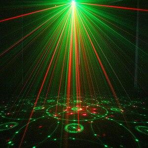 Image 5 - الغريبة RG 3 عدسة 48 أنماط خلط جهاز عرض ليزر المرحلة الإضاءة تأثير الأزرق LED أضواء للمسرح تظهر ديسكو DJ إضاءة حفلات