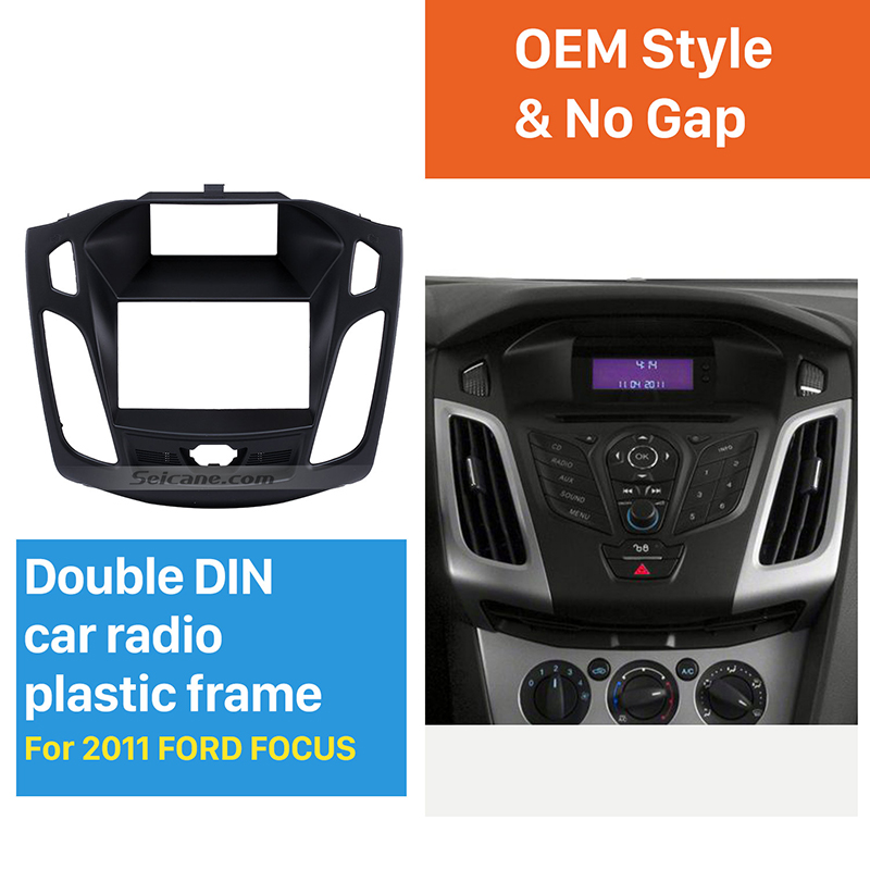 все цены на Seicane Perfect 173*98mm Double Din Car Radio Fascia for 2011-2013 Ford Focus Audio Frame Installation Trim Dash Kit Panel Plate онлайн